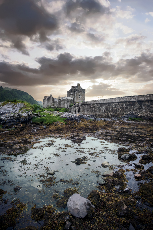 Eilean Donan Castle at sunset - image links to the Scottish Landscape West coast gallery
